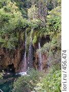 Купить «Водное падение на Плитвицких озерах, Хорватия», фото № 456474, снято 16 августа 2008 г. (c) Pukhov K / Фотобанк Лори