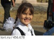 Купить «Первоклассница», фото № 456678, снято 31 августа 2008 г. (c) Талдыкин Юрий / Фотобанк Лори