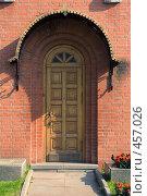 Купить «Старая деревянная дверь», фото № 457026, снято 7 сентября 2008 г. (c) Цветков Виталий / Фотобанк Лори