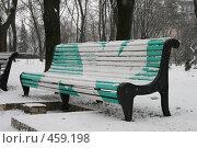 Купить «Лавочка в парке Т.Шевченко (Киев)», фото № 459198, снято 27 января 2008 г. (c) Никончук Алексей / Фотобанк Лори