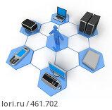 Купить «Компьютерная сеть», иллюстрация № 461702 (c) Панюков Юрий / Фотобанк Лори