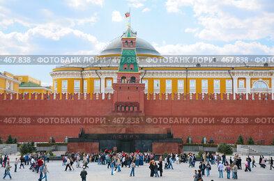 Купить «Мавзолей на Красной площади», фото № 467838, снято 10 июля 2020 г. (c) Losevsky Pavel / Фотобанк Лори