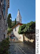 Купить «Дорога к храму. Город Ровень, Хорватия.», фото № 472722, снято 19 августа 2008 г. (c) Pukhov K / Фотобанк Лори