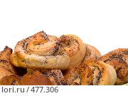 Купить «Свежевыпеченная булочка с маком», фото № 477306, снято 1 сентября 2008 г. (c) Наталья Герасимова / Фотобанк Лори