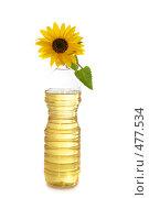 Купить «Подсолнух и бутылка подсолнечного масла», фото № 477534, снято 9 сентября 2008 г. (c) Cветлана Гладкова / Фотобанк Лори
