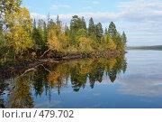 Купить «Осень на озере», фото № 479702, снято 11 сентября 2008 г. (c) Владимир Тимошенко / Фотобанк Лори