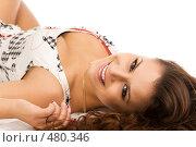 Купить «Красивая девушка», фото № 480346, снято 30 августа 2008 г. (c) Валентин Мосичев / Фотобанк Лори