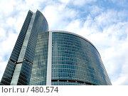"""Купить «Современное высотное офисное здание """"Москва-Сити""""», фото № 480574, снято 8 июля 2008 г. (c) Денис Дряшкин / Фотобанк Лори"""