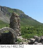 Вид на гору Демерджи с крепости Фуна (2007 год). Стоковое фото, фотограф Елена Багдаева / Фотобанк Лори