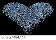 Бриллиантовое сердце. Стоковая иллюстрация, иллюстратор Панюков Юрий / Фотобанк Лори