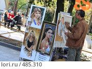 Купить «Художник на набережной Ялты 2008г», эксклюзивное фото № 485310, снято 21 апреля 2008 г. (c) Дмитрий Неумоин / Фотобанк Лори