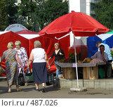 Купить «Рынок выходного дня на Уссурийской улице. Район Гольяново. Москва», эксклюзивное фото № 487026, снято 5 сентября 2008 г. (c) lana1501 / Фотобанк Лори