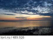 Рассвет над Онежском озере. Стоковое фото, фотограф николай шишкин / Фотобанк Лори