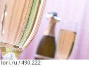 Купить «Шампанское и фужеры», фото № 490222, снято 24 сентября 2008 г. (c) Dzianis Miraniuk / Фотобанк Лори