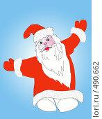 Купить «Дед Мороз», иллюстрация № 490662 (c) ElenArt / Фотобанк Лори