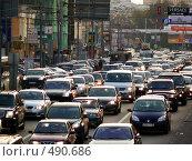 Купить «Пробка в городе», фото № 490686, снято 2 октября 2008 г. (c) Исаев Михаил / Фотобанк Лори
