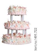 Купить «Праздничный торт трёх ярусный», фото № 491722, снято 27 сентября 2008 г. (c) Федор Королевский / Фотобанк Лори