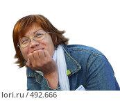 Купить «Женщина в шарфе», фото № 492666, снято 19 сентября 2018 г. (c) Вадим Кондратенков / Фотобанк Лори