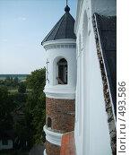 Купить «Вид из окна одной из башен церкви-крепости Мурованка», фото № 493586, снято 13 августа 2006 г. (c) Римма Радшун / Фотобанк Лори