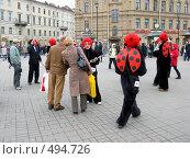 Купить «Рекламная акция Веб-плас на площади Петербурга», фото № 494726, снято 19 апреля 2008 г. (c) Юлия Подгорная / Фотобанк Лори