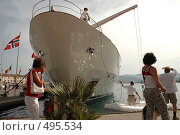Яхта у побережья (2007 год). Редакционное фото, фотограф Диана Иванкова / Фотобанк Лори