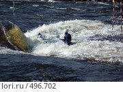 Купить «Каяк в пороге на бурной реке», фото № 496702, снято 28 июня 2008 г. (c) Комаров Константин / Фотобанк Лори