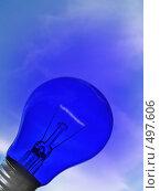 Купить «Синяя лампа светится на фоне неба», фото № 497606, снято 4 октября 2008 г. (c) Чернов Станислав / Фотобанк Лори