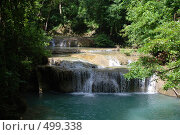 Водопад в тропическом лесу (джунглях) (2008 год). Стоковое фото, фотограф Сергей Анисимов / Фотобанк Лори