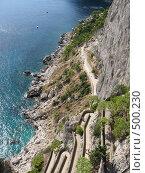 Дорога на острове Капри, вид сверху (2008 год). Стоковое фото, фотограф Anna Marklund / Фотобанк Лори