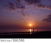 Закат на море. Стоковое фото, фотограф Медовиков Алексей / Фотобанк Лори