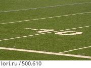 Купить «Разметка поля для американского футбола», фото № 500610, снято 21 сентября 2008 г. (c) Наталья Герасимова / Фотобанк Лори