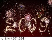 Купить «2009 год. Фейерверк», фото № 501654, снято 28 марта 2020 г. (c) Сергей Галушко / Фотобанк Лори