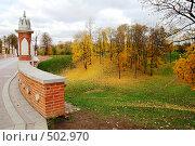 Купить «Фрагмент пешеходного моста. Царицыно», фото № 502970, снято 9 октября 2008 г. (c) Владимир Казарин / Фотобанк Лори