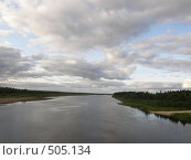 Купить «Река», фото № 505134, снято 18 августа 2008 г. (c) Евгений Перов / Фотобанк Лори
