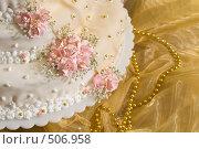 Купить «Праздничный торт», фото № 506958, снято 11 октября 2008 г. (c) Федор Королевский / Фотобанк Лори