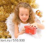 Купить «Любопытный рождественнский ангел», фото № 510930, снято 28 июля 2007 г. (c) Ольга Красавина / Фотобанк Лори