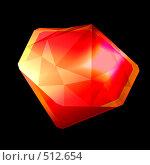 Купить «Красный кристалл», иллюстрация № 512654 (c) Владимир Сергеев / Фотобанк Лори