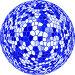 Текстура синего шара на белом фоне, иллюстрация № 512982 (c) Александр Тараканов / Фотобанк Лори