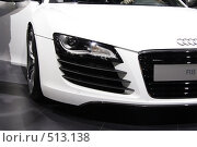 Audi R8 на выставке ММАС-2008, фото № 513138, снято 1 сентября 2008 г. (c) Андрей Ерофеев / Фотобанк Лори