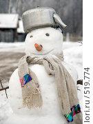 Купить «Снеговик», фото № 519774, снято 26 декабря 2007 г. (c) Юрий Пономарёв / Фотобанк Лори