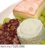 Купить «Сыры и виноград», фото № 520086, снято 31 декабря 2007 г. (c) Наталья Герасимова / Фотобанк Лори
