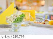 Купить «Сервировка праздничного стола», фото № 520774, снято 19 сентября 2008 г. (c) Vdovina Elena / Фотобанк Лори