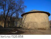 Купить «Псков. Крепостная стена и башня», фото № 520858, снято 5 апреля 2008 г. (c) АЛЕКСАНДР МИХЕИЧЕВ / Фотобанк Лори