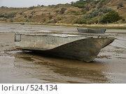 Купить «Рыбацкие лодки во время отлива», фото № 524134, снято 21 сентября 2008 г. (c) Владимир Власов / Фотобанк Лори