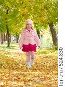 Купить «Маленькая девочка в осеннем парке», фото № 524830, снято 19 сентября 2018 г. (c) Goruppa / Фотобанк Лори
