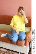 Купить «Молодая женщина в депрессии», фото № 525282, снято 25 октября 2008 г. (c) Анна Игонина / Фотобанк Лори