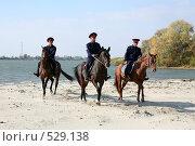 Купить «Донские казаки скачут верхом на конях», фото № 529138, снято 12 октября 2008 г. (c) Виктор Филиппович Погонцев / Фотобанк Лори