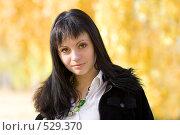 Купить «Молодая девушка брюнетка», фото № 529370, снято 6 октября 2008 г. (c) Рыбин Павел / Фотобанк Лори