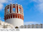 Купить «Часть стены и башня Новодевичьего монастыря», фото № 529386, снято 25 октября 2008 г. (c) Владимир Казарин / Фотобанк Лори
