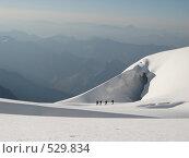 Альпинисты на перевале (2008 год). Редакционное фото, фотограф Елена Чердынцева / Фотобанк Лори